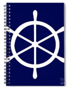 Helm In White And Navy Blue Spiral Notebook