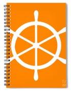 Helm In White And Orange Spiral Notebook