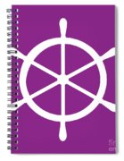Helm In White And Purple Spiral Notebook