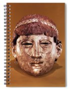 Helmet In Two Parts Iron Spiral Notebook