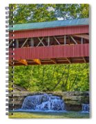 Helmick Mill Or Island Run Covered Bridge  Spiral Notebook