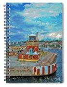Helsingborg Lighthouse Hdr Spiral Notebook