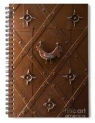 Hen Shaped Doorknob On A Brown Metal Doors Spiral Notebook