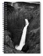 Hengifoss Waterfall Spiral Notebook