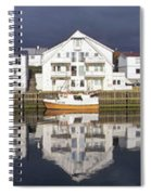 Henningsvaer Panoramic View Spiral Notebook