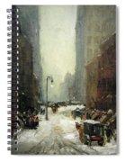 Henri's Snow In New York Spiral Notebook