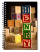 Henry - Alphabet Blocks Spiral Notebook