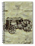 Henry Ford Tractor Patent Spiral Notebook
