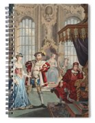 Henry Viii And Anne Boleyn Spiral Notebook