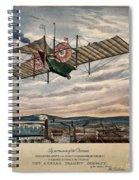 Henson's Aerial Steam Carriage 1843 Spiral Notebook