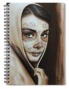 Hepburn De Los Muertos Spiral Notebook