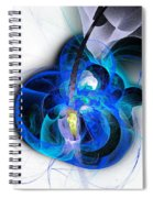 Her Heart Is A Guitar Blue Spiral Notebook