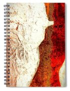 Her Red Silhouette Spiral Notebook