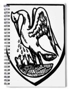 Heraldry Pelican Spiral Notebook