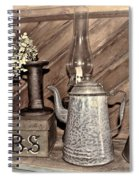 Herbs Bw Spiral Notebook