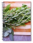 Herbs On Cutting Board Spiral Notebook