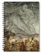 Hercules Supporting The Sky Instead Of Atlas Spiral Notebook