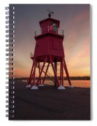 Herd Groyne Lighthouse On The Water S Spiral Notebook
