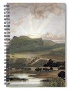 Herd Of Bison On The Upper Missouri Spiral Notebook