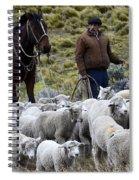 Herding Sheep Patagonia 3 Spiral Notebook