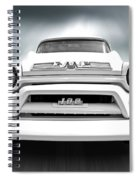 Here Comes The Sun - Gmc 100 Pickup 1958 Black And White Spiral Notebook