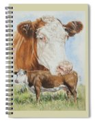 Hereford Cattle Spiral Notebook