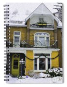 Heritage Home In Yellow Spiral Notebook