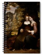 Hermia And Helena Spiral Notebook