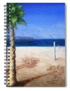 Hermosa Beach Pier Spiral Notebook