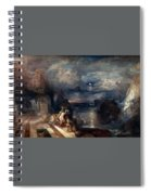 Hero And Leander's Farewell Spiral Notebook