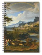 Heroic Landscape With Rainbow Spiral Notebook