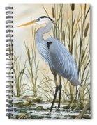 Heron And Cattails Spiral Notebook