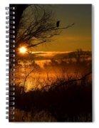 Heron At Sunrise Spiral Notebook