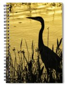 Heron At Sunrise Spiral Notebook