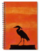 Heron - At - Sunset Spiral Notebook