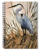 Heron In Tall Grass Spiral Notebook