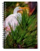 Heron In The Pines Spiral Notebook