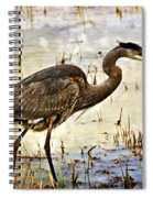 Heron On A Cloudy Day Spiral Notebook