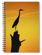 Heron Silhouette Spiral Notebook