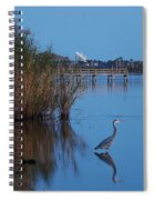 Heron Watching The Sunset Spiral Notebook