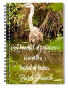 Heron With Quote Photograph  Spiral Notebook