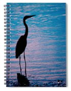 Herons Moment Spiral Notebook