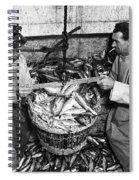 Herring Fishing Howth 1955  Spiral Notebook