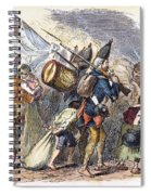 Hessian Mercenaries, 18th C Spiral Notebook