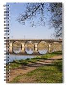 Hexham Bridge And Riverside Path Spiral Notebook