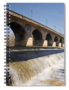 Hexham Bridge And Weir Spiral Notebook