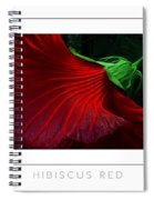 Hibiscus Red Poster Spiral Notebook