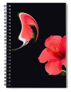 Hibiscus Seed Dream Digital Art Spiral Notebook