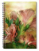 Hibiscus Sky - Peach And Yellow Tones Spiral Notebook
