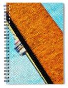 Hidden And Falling Tiled Version Spiral Notebook
